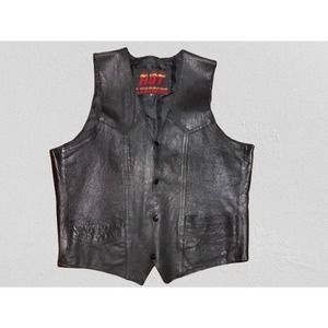 LEATHER MOTORCYCLE VEST by Hot Leathers